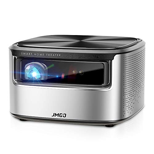 JMGO N7 Native 1080P Projector, 4K Supported, 1400 ANSI Lumen, HDR 10, Auto Focus, Keystone Correction, DLP, Dolby, 3D, WiFi, Smart Home Cinema Video Projector