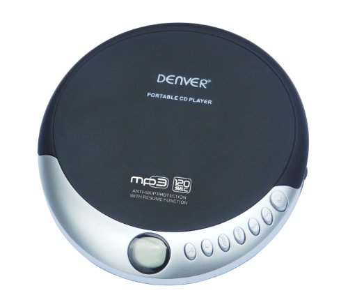 Denver DMP-389 Portable CD Player with Auto Resume
