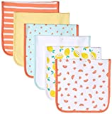 Amazon Essentials 6-Pack Burp Cloth Infant and Toddler Costumes, Mehrfarbig (Girl Fruit), Einheits...