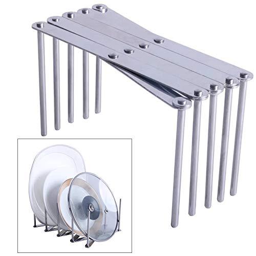 SYN Soporte de Acero Inoxidable para vaporizador, Estante de Almacenamiento Plegable para Cocina, Bandeja de vaporizador, Organizador Multifuncional, Plateado, 13 * 5.7 * 7.2 cm