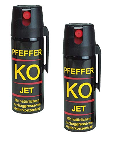 DD-Tackle 2er Set Pfefferspray 50ml Tierabwehrspray Jet
