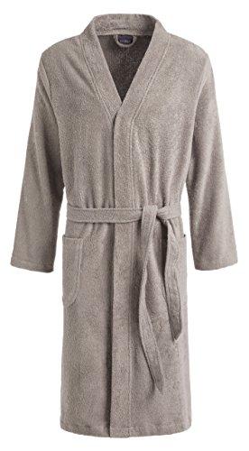 Egeria SUNNY Unisex Bademantel in Kimonoform für Damen und Herren, Größe S, Farbe Cinder