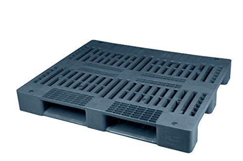 Universal Palette 1200x1000 mm aus HDPE-RE Kunststoff anthrazit