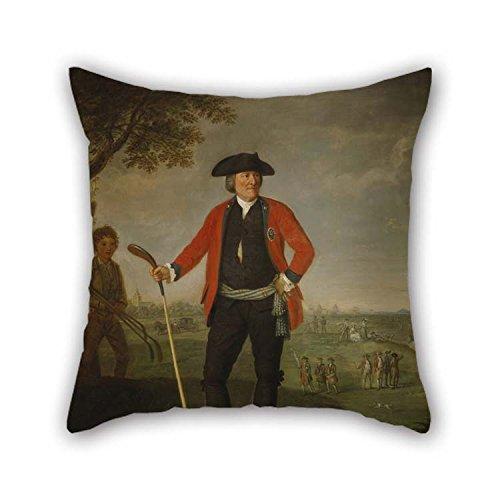 Ölgemälde David Allan - William Inglis, C 1712-1792 Surgeon and Captain of The Honrable Company of Edinburgh Golfers Überwurfkissen für Wohnzimmer, Jungen, Boden, Heimkino, Bett