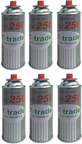 ALTIGASI 6 Stück Gaskartusche GPL 250 GR Art.KCG250 Ideal Schweißen oder Backofen, geeignet für CAMPINGAZ cp250 Brunner