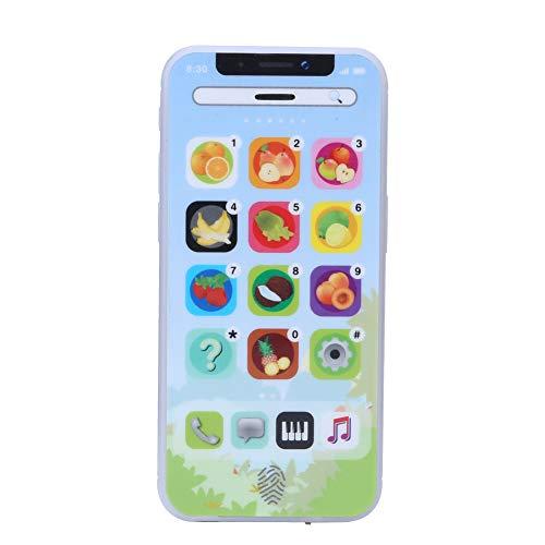 Meiyya Juguete para teléfono con música, Juguete para teléfono con precepción de música, niño de Apariencia Colorida para el hogar Regalos educativos de Navidad (Blue)