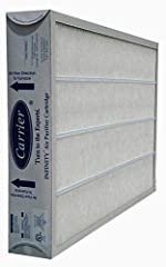Nominal size 16 x 25 x 3 1/2-Inches (Actual Size 17 1/16 x 24 3/8 x 3 5/8-Inches) Part Number: GAPCCCAR1625 Genuine replacement filter from Carrier / Bryant