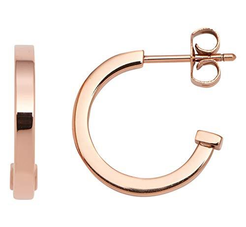 Jewels by Leonardo Damen-Kreole Beauty's roségold S, Edelstahl IP roségold, Größe (B/H/T):2/15/18mm, 016755