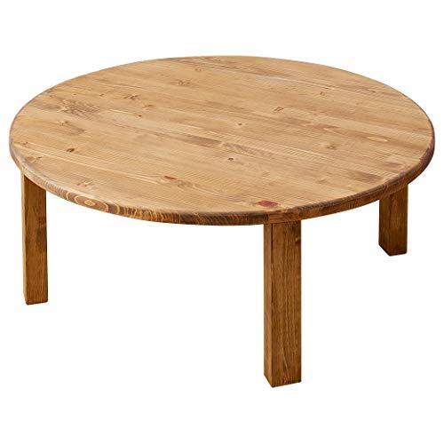 ひのきちゃぶ台 直径90×高さ36cm 国産檜 円形 完成品 木製 折りたたみテーブル ローテーブル
