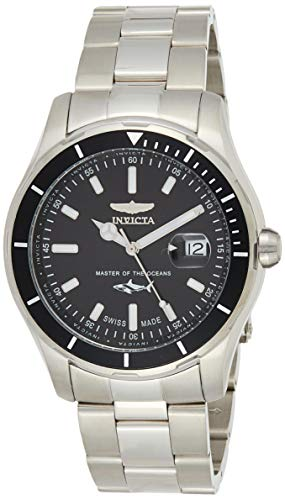 Invicta Men's Pro Diver Quartz Watch with Stainless-Steel Strap, Silver, 22 (Model: 25806)
