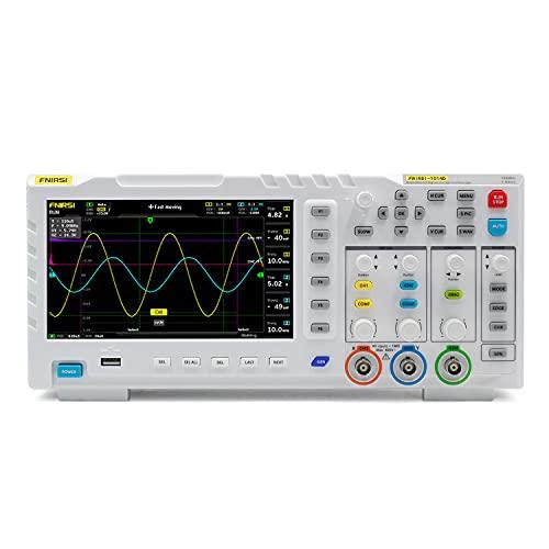 1014D - Osciloscopio generador de señales de entrada de doble canal 100 MHz x 2 ancho de banda analógica 1G Sa/s, tasa de muestreo 1 GB de espacio de almacenamiento