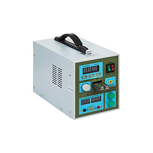 QWERTOUR Pulse Spot Welder Micro-Computer Controlled Welding Machine for 18650 Soldering Battery Charger Tester 800A 1.9KW
