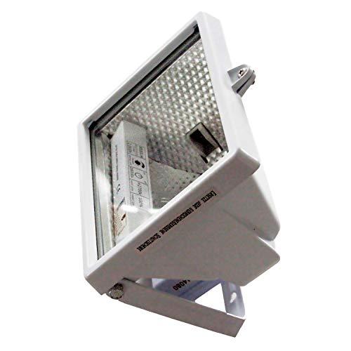 as - Schwabe Halogenstrahler - 120 W Halogen-Fluter geeignet als Baustrahler/Arbeitsleuchte – Energieklasse C - Halogenspot inklusive Leuchtmittel - Leuchte für den Außenbereich - Weiß I 44066