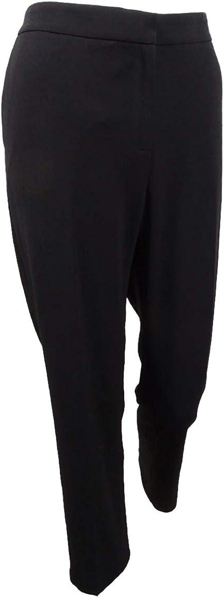 Kasper Women's Straight-Leg Pants (8, Black)