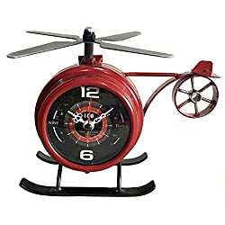 The Bridge Collection Vintage Style Helicopter Clock
