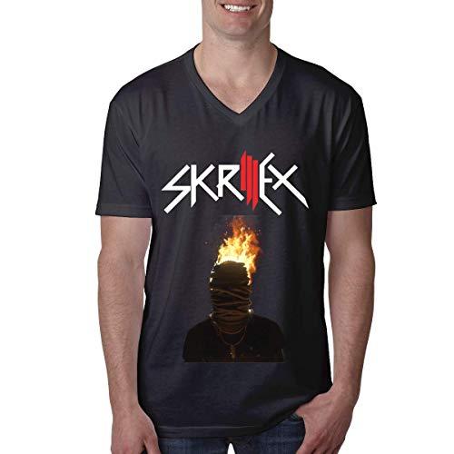 BAO-Jim Tee Herren Skrillex Generic Klassisches V-Neck T-Shirt