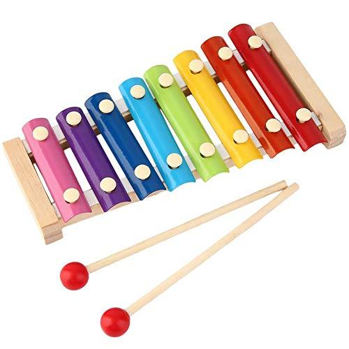 INTVN Xylophon Musical Spielzeug für Kinder Musikinstrument,Baby Schlaginstrument Spielzeug Bunt Xylophon Musik Rhythmus,Perfektes Kinder Glockenspiel mit 2 Xylophon Schlägel