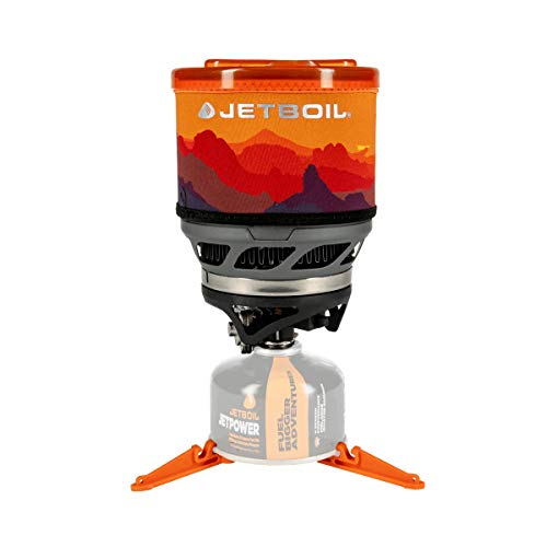 Jetboil MiniMo Camping and Backpacking Stove Cooking System, Sunset Orange