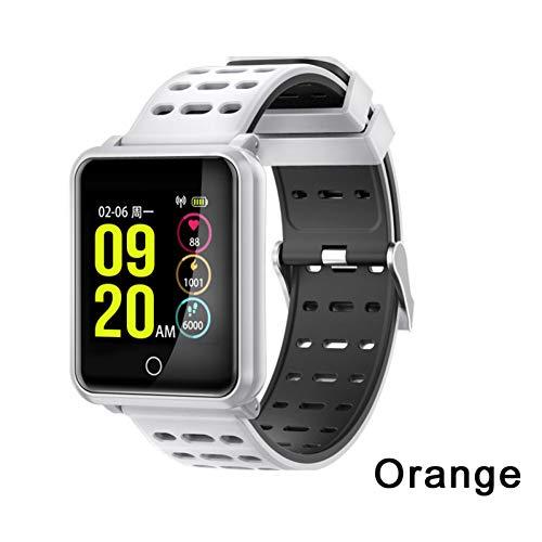 ZCPWJS Smartes Armband N88 Smart Watch Männer IP68 wasserdichte Herzfrequenz Blutdruckmessgerät Sport Smart Armband Fitness Tracker Smartwatch,Weiß
