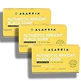 Alaffia - Authentic African Black Soap Triple Milled, Charcoal Reishi set of 3
