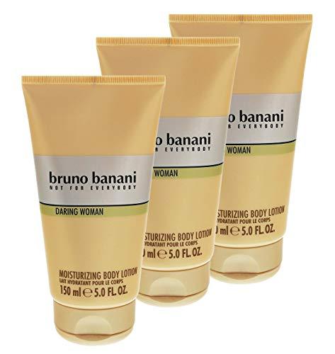 3 x Bruno Banani Daring Woman sanfter Duft Body Lotion je 150ml für Frauen