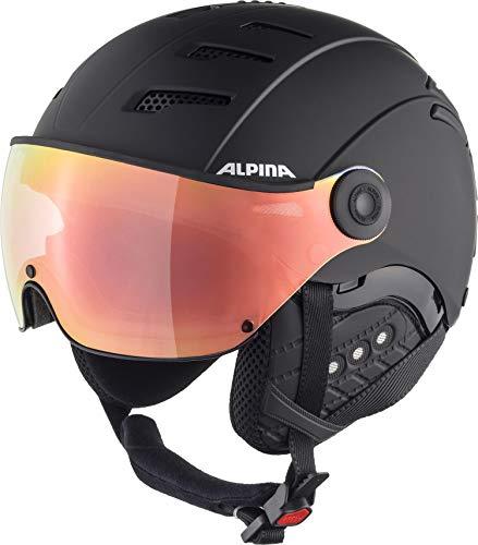 ALPINA Unisex - Erwachsene, JUMP 2.0 Q-LITE Skihelm, black matt, 52-54 cm