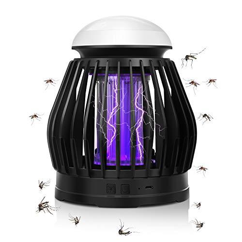 QZT Mückenschutz Lampe, Mückenschutzlampe Elektrisch Insektenvernichter - Indoor Mosquito Repellent Lamp mit USB Steckdose, Schwarz