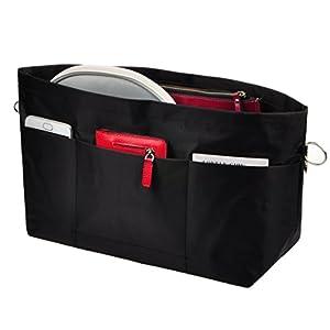 Vercord Handbag Purse Tote Pocketbook Organizer Insert Zipper Closure 11 Pockets 3 Sizes Many Colors
