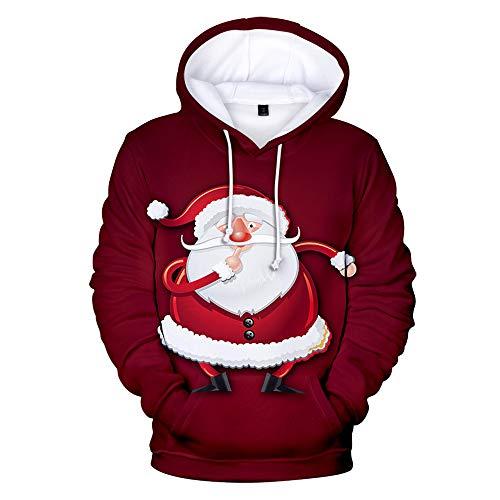 x8jdieu3 Herbst und Winter Kleidung Weihnachten Festival 3D Mode Hoodie Sport lässig Pullover Paar Kapuzenpullover Mantel Jacke