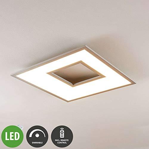 Lampenwelt LED Deckenleuchte 'Durun' dimmbar mit Fernbedienung (Modern) in Weiß u.a. für Küche (1 flammig, A+, inkl. Leuchtmittel) - Lampe, LED-Deckenlampe, Deckenlampe, Küchenleuchte