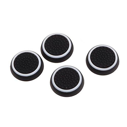 Xiton Thumbsticks Silicone Joystick Tappi di Copertura per PS3 / PS4 / Xbox One/Xbox 360 Wireless Controller 2 Pair/Bianco e Nero