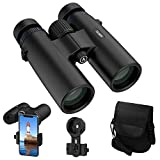 ACPOTEL Binoculars for Adults, 10x42 Compact Binoculars Waterproof, HD Binoculars - BAK4 Prism FMC Coating for Bird Watching/Boating/Hunting/Concerts/Theater/Sports/Travel