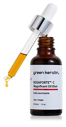 Green Keratin ROSAFORTE C Magnífico aceite Elixir/Rosa mosqueta y Vitamina C, aceite facial
