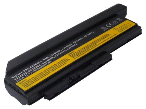 Power Smart® 11,10 V 7800 mAh Batterie pour Lenovo 0 A36282, 0 A36283, ASM 42T4862, FRU 42T4861, FRU 42T4863, FRU 42T4865, FRU 42T4873, FRU 42T4862, FRU 42T4940, FRU 42t4941, FRU 42T4942, FRU 42Y4864, FRU 42y4868, FRU 42y4874