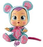 Bebés Llorones Lala - Muñeca interactiva que llora de verdad con chupete y pijama de Ratoncita
