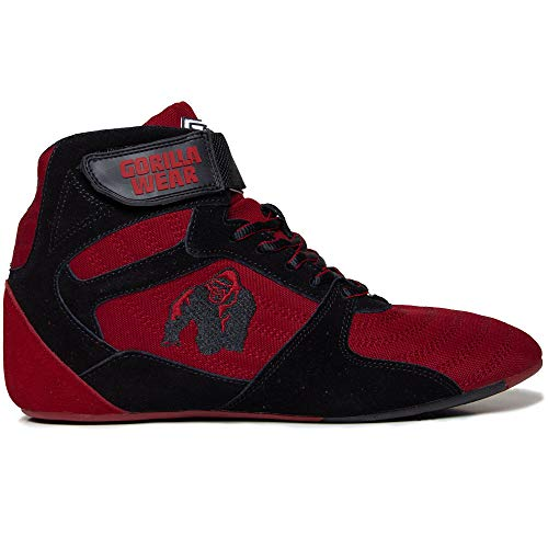 Gorilla Wear Perry High Tops Pro - rot/schwarz - Bodybuilding und Fitness Schuhe für Damen und Herren, 44