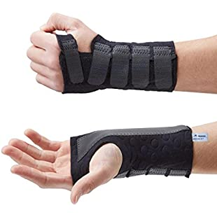 Actesso Stomatex Wrist Support Splint - Wrist Stabiliser- Ideal for Reducing Pain from Carpal Tunnel, Sprains, Wrist Injury or Arthritis. Medically Approved (Medium Right):Masterpola
