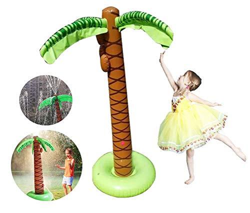 Fonteinpomp Opblaasbare kokospalm Strooi en plons Speelmat, waterspeelgoed voor kinderen/hond/kat/huisdieren, zomerspeelgoed voor gezinsactiviteiten buiten