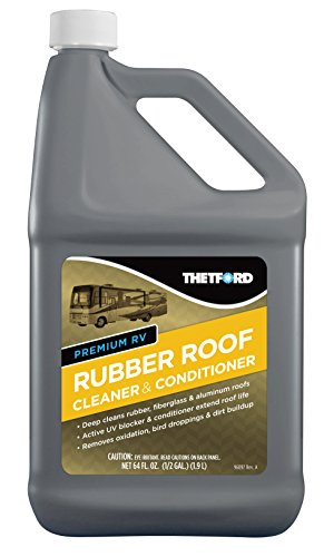 Premium RV Rubber Roof Cleaner - Non-Toxic, Non-Abrasive RV roof detergent 64 oz - Thetford 96016