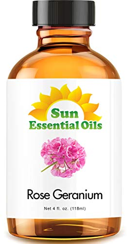 Rose Geranium Essential Oil (Huge 4oz Bottle) Bulk Rose Geranium Oil - 4 Ounce