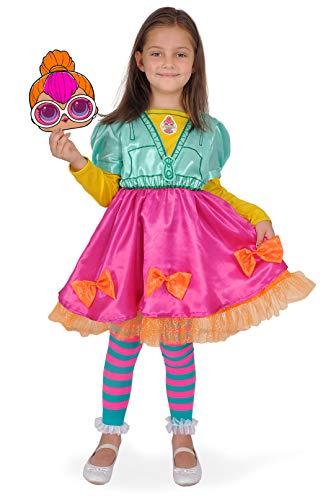 Ciao Costume Travestimento L.o.l. Surprise Neon (Taglia 6-9 Anni) con Accessori Disfraces, Multicolor, 9-9 Years para Mujer