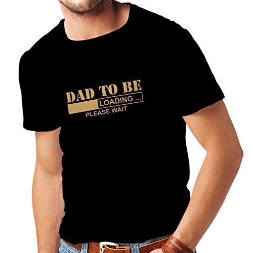 lepni.me Camisetas Hombre Padre Futuro, Anuncio de Embarazo, Ideas de Regalos Divertidos para Papi (X-Large Negro Oro)