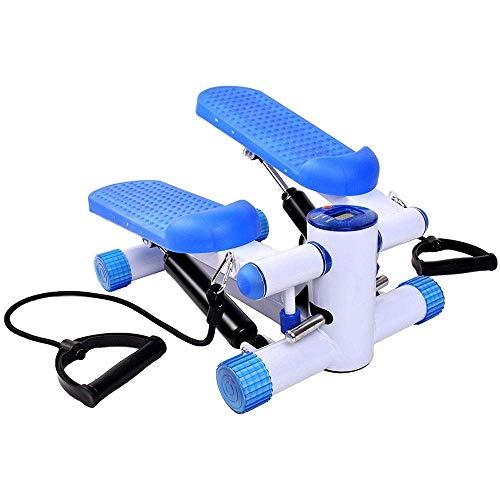 Aerobic Fitness voor binnenshuis, voor aerobic thuis, mini-gewichtsverlies voetmassage, kleine stepper, swing-machine, loop, fitness, workout W / training cord armen, benen. (Kleur: zwart, maat: vrije maat) 8