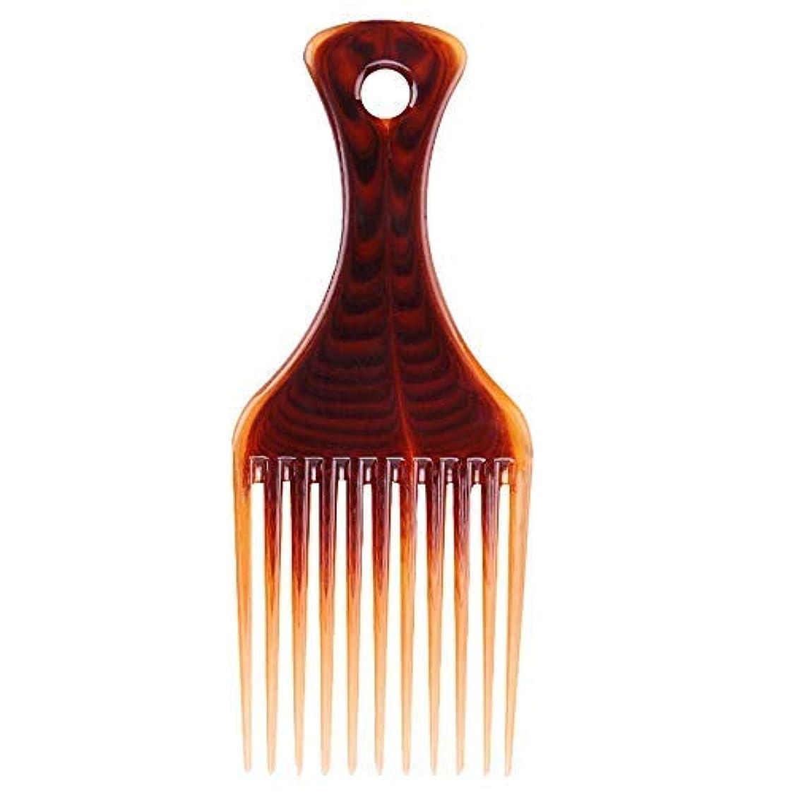 気分寄託叱るRosette Hair Amber Smooth Hair Pick Comb Afro Lift Detangle Hair Comb Hair Styling Tools [並行輸入品]
