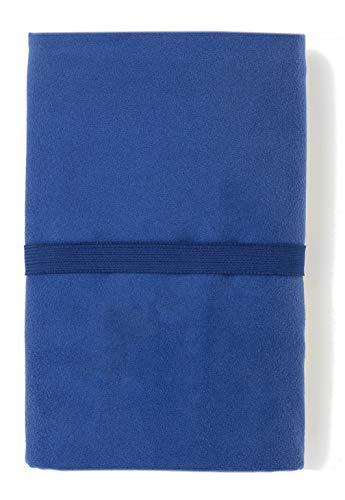 TEX - Toalla de Playa Microfibra, Secado Rápido, Ultraligera, 110x175 cm, Azul Marino