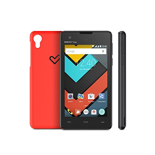 "Energy Sistem Phone Neo Lite (smartphone con protection Kit, 4"" IPS, Quad Core, 1 GB, Android 5.1, Dual SIM, cámara trasera 5 Mpx con autofocus y flash LED) - Negro"