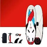 CQLSJB aufblasbares Paddle Board • Board-Set • Windsurf-Segel