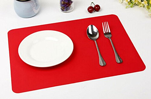 Windspeed Silicone Pastry Mat Oven Baking Mat for Sheet Pans Cooling Rack (Red)