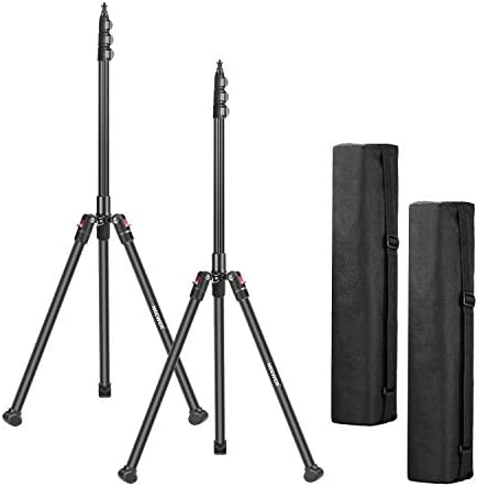 Neewer 2 Pack 78 7 Inches 200CM Photography Tripod Light Stand Foldable and Adjustable Aluminium product image