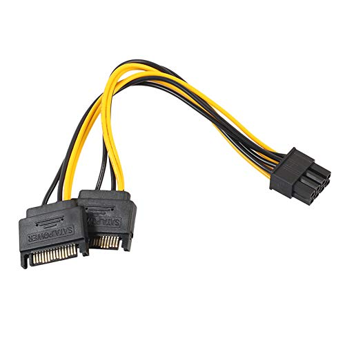 Preisvergleich Produktbild Dandeliondeme Robustes Dual 15-Pin SATA auf PCI-E 8-Pin Kabel PC Computer Grafikkarte Netzkabel 20 cm